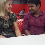 Softwareengineer Sathiyamoorthy kom også på besøk.