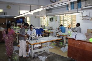Besøk på en syfrabrikk i Tirupur.