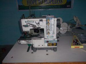 En av de nye symaskinene som er kjøpt inn.