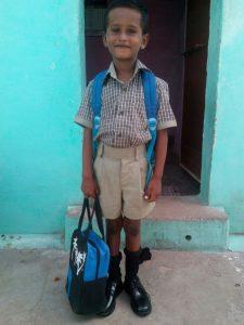 Første skoledag for Prakashraj